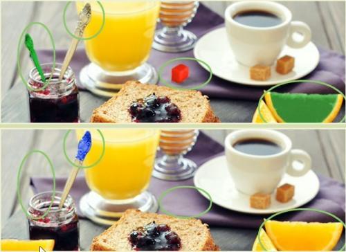 5 отличий онлайн уровень 1 -05 варенье сок лимон хлеб кофе.jpg