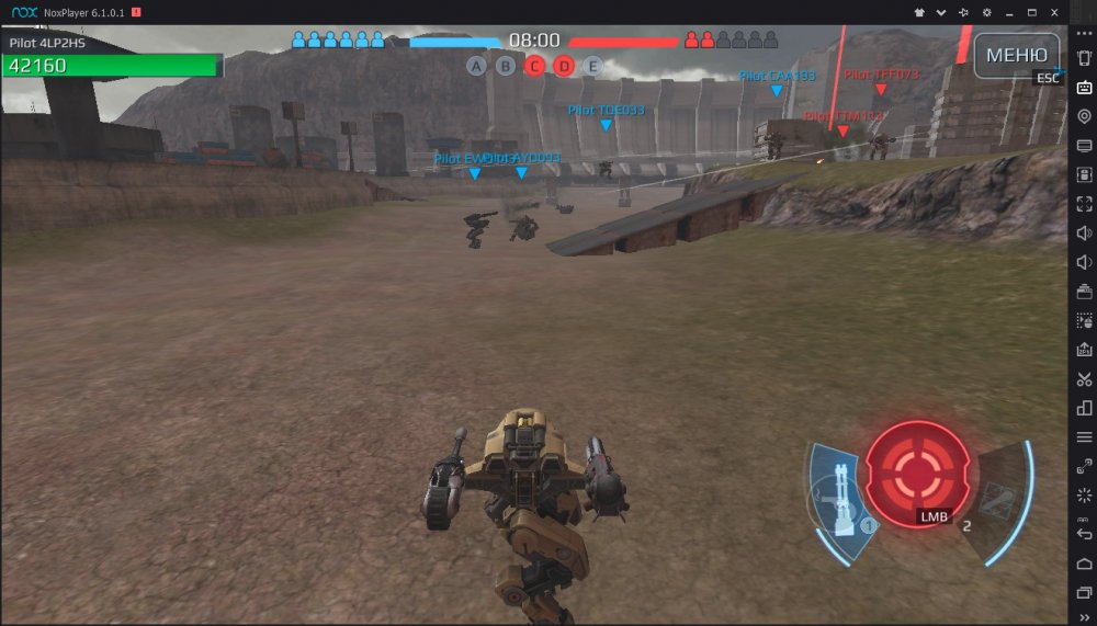 War Robots Nox Emulator Intel HD graphics 630
