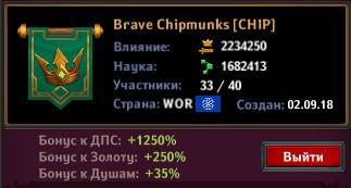 Dungeon Crusher Brave Chipmunks clan