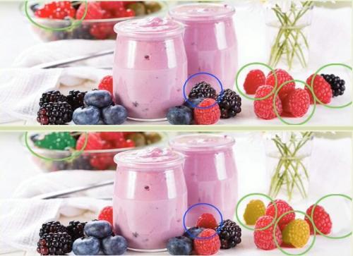 5 отличий онлайн уровень 1 -03 йогурт еживика малина Одноклассники.jpg