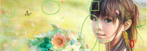 5 отличий онлайн картинка изображение ответ девушка цветы бабочки.jpg