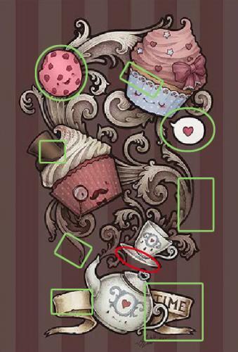 5 отличий онлайн картинка изображение ответ кружка чайник пирожное уровень 59 раунд 3.jpg